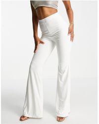 Club L London Flared Trouser - White