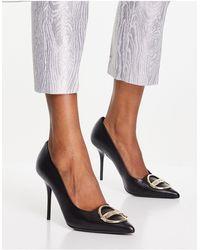 Love Moschino High Heeled Pump Shoes - Black