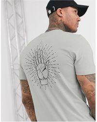 ASOS T-shirt imprimé palmier - Gris