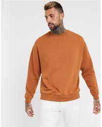 ASOS Felpa oversize marrone