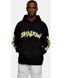 TOPMAN - Shadow Print Hoodie - Lyst