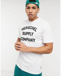 Herschel Supply Co. T-shirt girocollo bianca con logo - Bianco