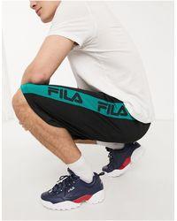 Fila Saros Mesh Short With Printed Stripes - Black