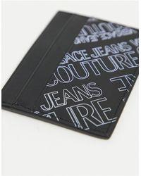 Versace Jeans Couture Черная Кредитница С Фиолетовым Принтом Логотипа -черный Цвет