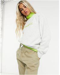 Carhartt WIP Sweat-shirt à logo - Cendré chiné et citron vert - Gris