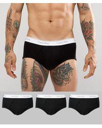 Calvin Klein Набор Из 3 Черных Классических Хлопковых Трусов -черный