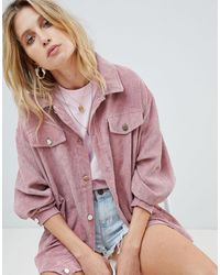 PrettyLittleThing Light Weight Cord Jacket - Pink