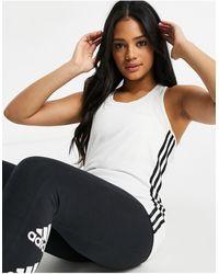 adidas Originals Белая Майка С 3 Полосками Adidas Training-белый