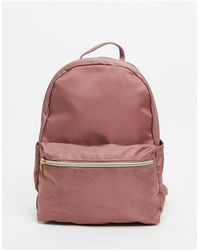 ASOS Simple Backpack With Front Pocket - Purple