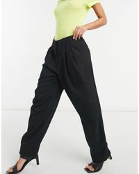 Weekday Zinc Tailored Trousers - Black