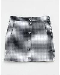 Oasis Button Through Mini Skirt - Multicolour