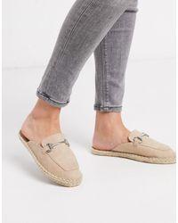 ASOS – Jace – Espadrille-Pantoletten im Loafer-Stil, - Mehrfarbig
