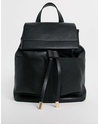 ASOS Slouchy Backpack With Oversized Pockets - Black