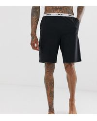 ASOS - Lounge Pyjama Shorts In Black With Branded Waistband - Lyst