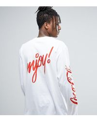 Reclaimed (vintage) Inspired X Coca Cola Oversized Long Sleeve T-shirt - White