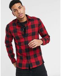 Jack & Jones Essentials Buffalo Check Shirt - Red