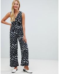 Yumi' - Jumpsuit In Monochrom Animal Print - Lyst