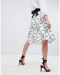 Vesper - Printed Skater Skirt - Lyst
