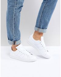 adidas Originals - Originals All White Stan Smith Sneakers - Lyst