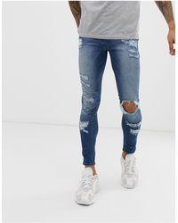 ASOS Spray On Jeans - Blue