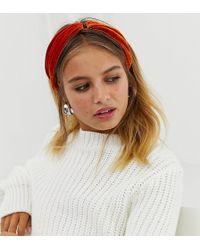 New Look - Ring Velvet Headband In Orange - Lyst