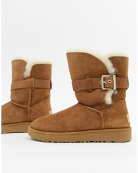 UGG - Buckle Strap Chestnut Boots - Lyst