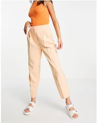 ASOS - Pantalones color coral tapered - Lyst