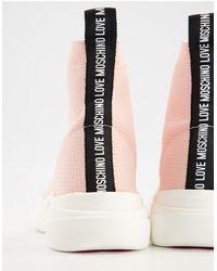 Love Moschino Розовые Спортивные Ботильоны Original-розовый Цвет