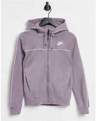 Nike Felpa tecnica con cappuccio - Viola