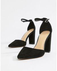 Pimkie Pointed Heeled Shoe - Black