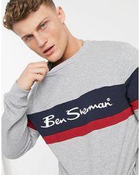 Ben Sherman Свитшот С Логотипом В Стиле Колор Блок -серый