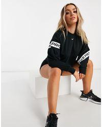 Nike Nike - Pro Training - Kort Sweatshirt Met Logobies - Zwart