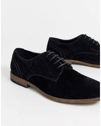 New Look Faux Suede Derby - Black
