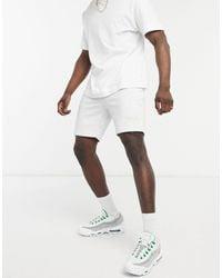 Marshall Artist Jersey Shorts With Branding - White