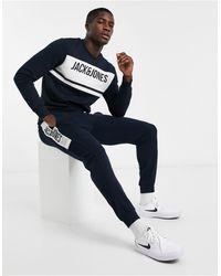 Jack & Jones Темно-синий Спортивный Костюм Со Вставкой-логотипом Core