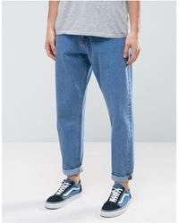 ASOS Asos Oversized Tapered Jeans - Blue