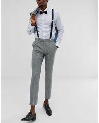 ASOS Wedding Suspenders - Blue