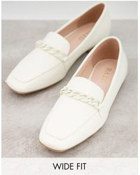 Raid Wide Fit Artie Loafers With Colour Drenched Trim - White