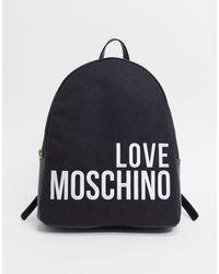 Love Moschino Rugzak Met Groot Logo - Zwart
