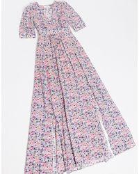 & Other Stories Разноцветное Платье Макси С Разрезами И Цветочным Принтом -мульти - Многоцветный