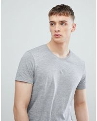 Esprit - Longline T-shirt In Gray With Crew Neck - Lyst