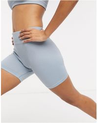 "South Beach - Shorts de 5"" azulwa pálidos sin costuras de canalé de - Lyst"