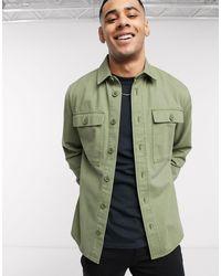 New Look Double Pocket Overshirt Shirt - Green