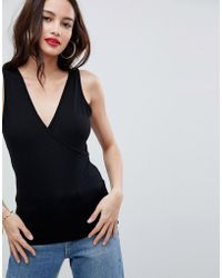 ASOS - Design Top With Wrap Front And Back - Lyst