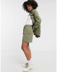 Dr. Denim Utility Pocket Skirt - Green