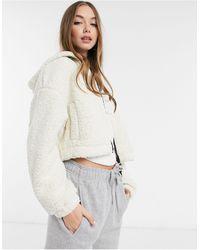 Pimkie Borg Fleece Zip Jacket - Multicolour