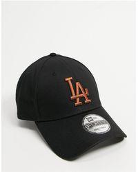 KTZ 9forty - Los Angeles Dodgers - Baseballpet - Zwart