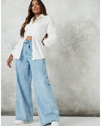 Missguided 90s Wide Leg Jean - Blue