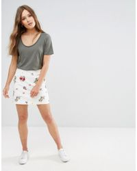 New Look Floral Embroidered Skirt - White