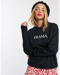 ASOS Sweatshirt With Drama Motif - Black